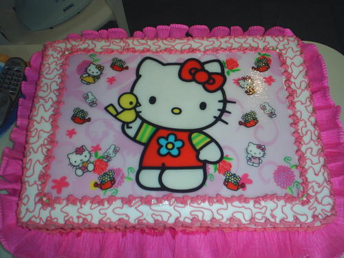Festa Hello Kitty de papel de arroz
