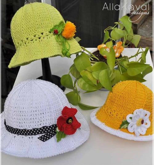 Chapéu de crochê infantil para bebê  Idéias e Passo a passo 111c57c8646