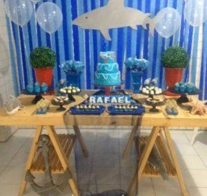 decoração festa tubarão