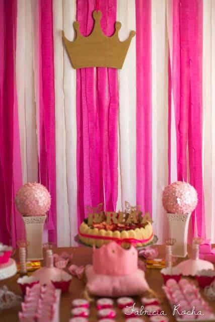 decoração festa pink