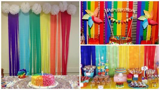 decoração arco íris