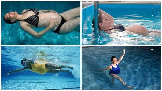 natação grávidas