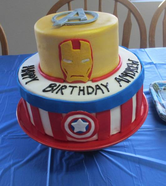 bolo decorado 2 andares