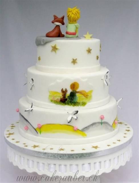 bolo branco decorado