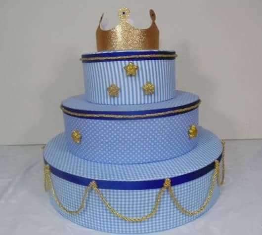 bolo fake de tecido