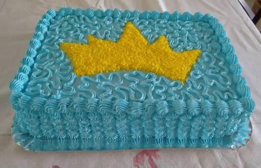 bolo decorado coroa