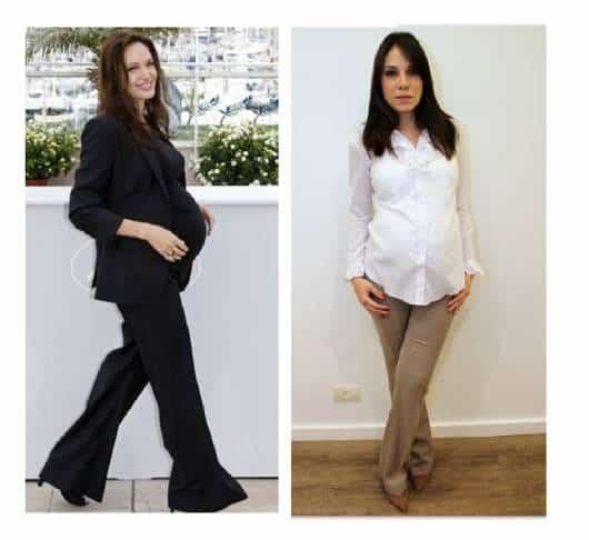 Modelos vestem calças sociais em ton de preto e bege, sapato bico fino , camisas clean e blusa preta com blazer no mesmo tom.