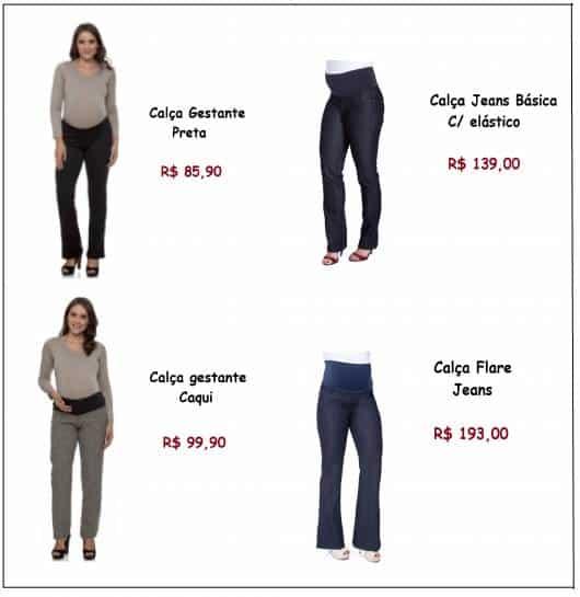 Modelos vestem calças da loja Dafiti, nas cores preto, caqui, jeans skinny e pantalona.