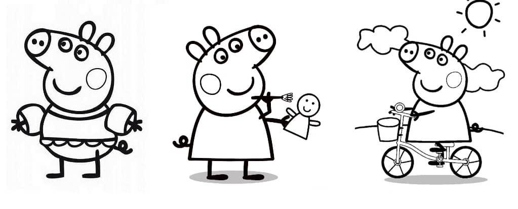 desenhos para pintar Peppa