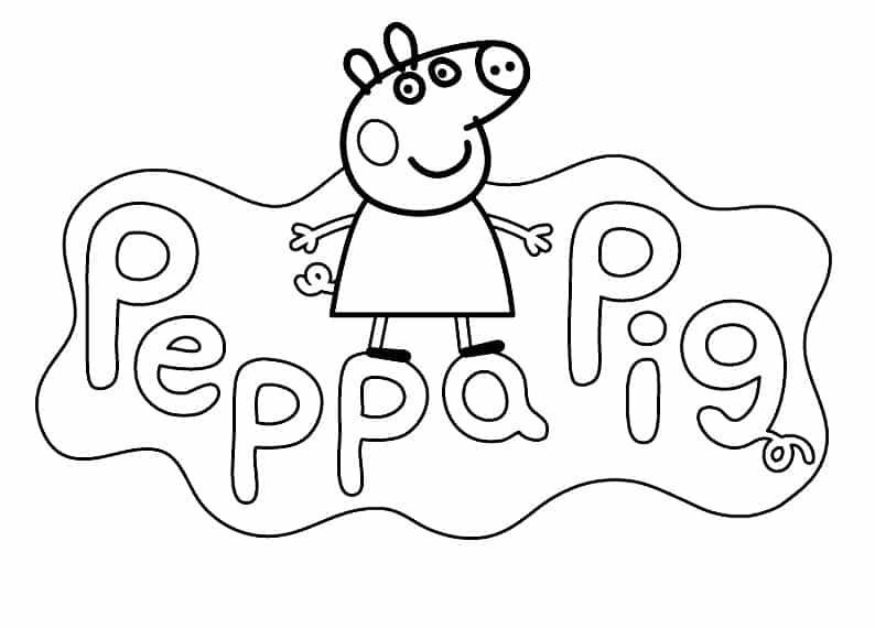 Desenhos - Desenhos de peppa pig a porquinha peppa para colorir