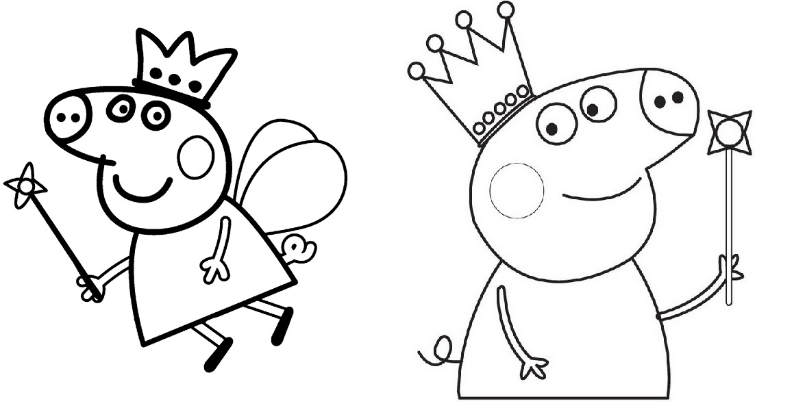 Famosos Desenhos para colorir Peppa Pig: 45 opções para imprimir grátis! NR24