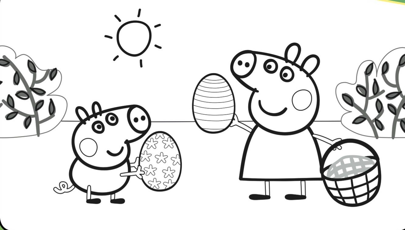 Peppa Pig House Coloring Pages Sketch Coloring Page