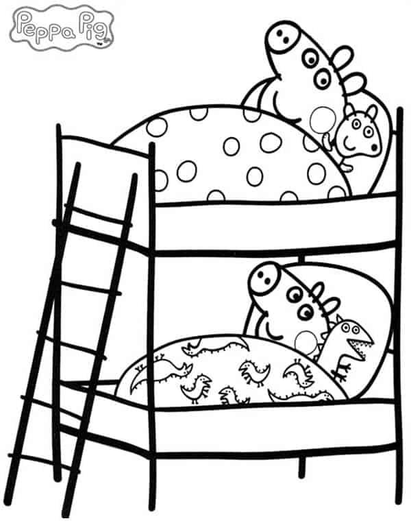 Peppa e George hora de dormir