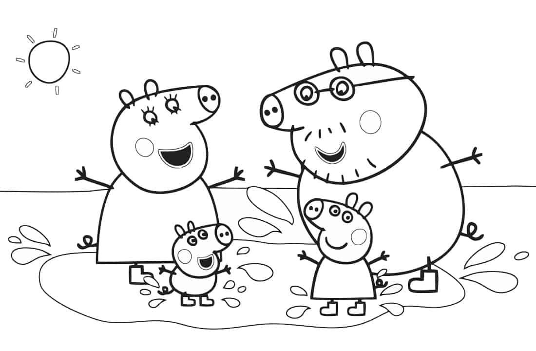 família brincado na lama