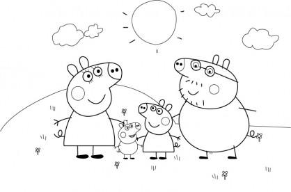 desenho família simples