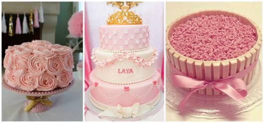 ideias de bolo rosa