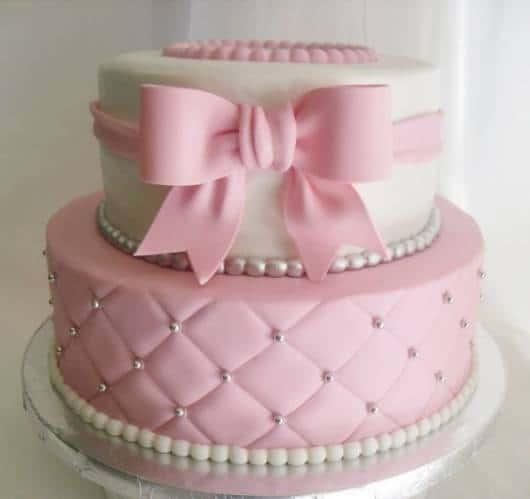 bolo rosa 2 andares