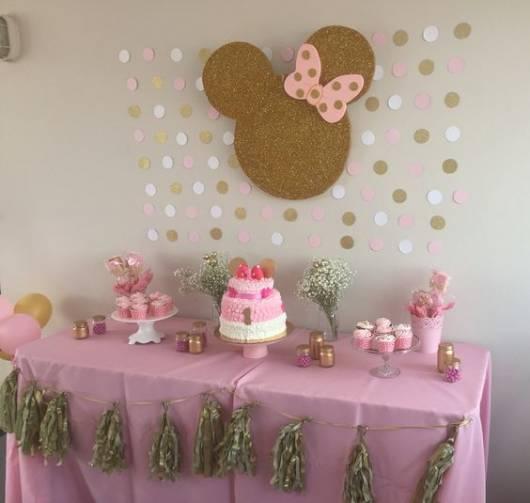 festa em casa Minnie