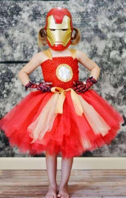 Fantasia do Homem de Ferro para meninas.