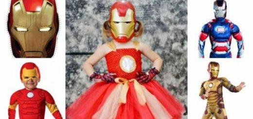 Fantasia do Homem de Ferro infantil para meninas.