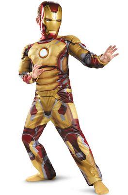 Fantasia do Homem de Ferro dourada e vermelha.