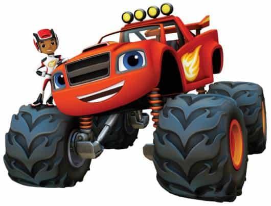 Os personagens Blaze e AJ, do desenho da Nickelodeon.