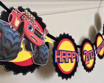 Enfeite com o tema Blaze Monster Machine para ser pendurado.