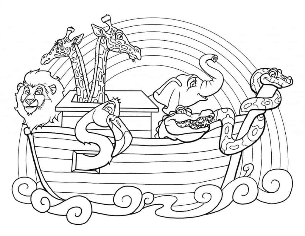 Dibujos Para Colorear Del Arca De Noe Para Imprimir: 54 Desenhos Bíblicos Para Colorir E Imprimir Grátis