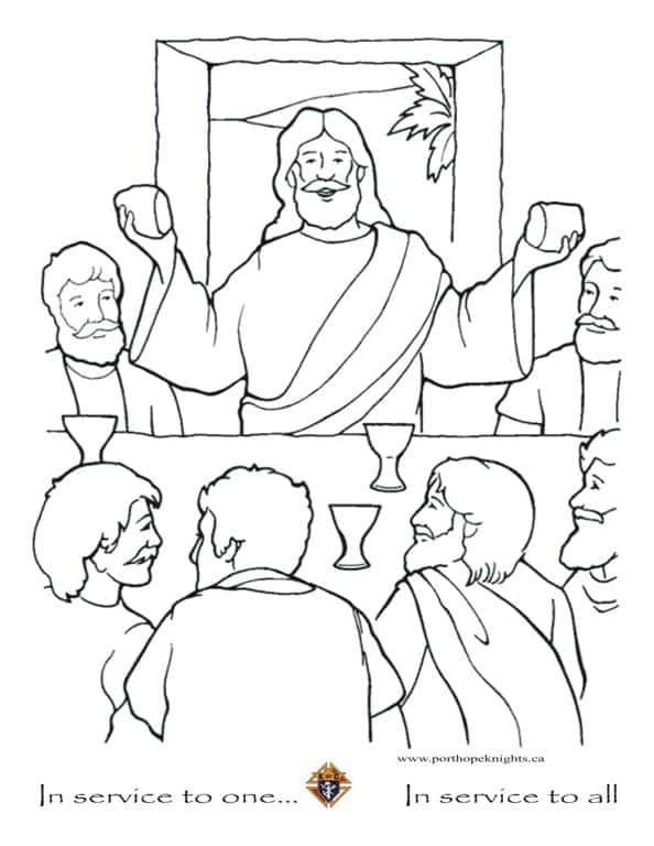 desenho Jesus com discípulos