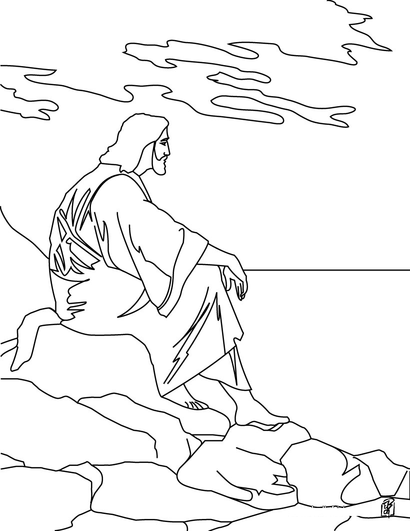 desenho para pintar Jesus
