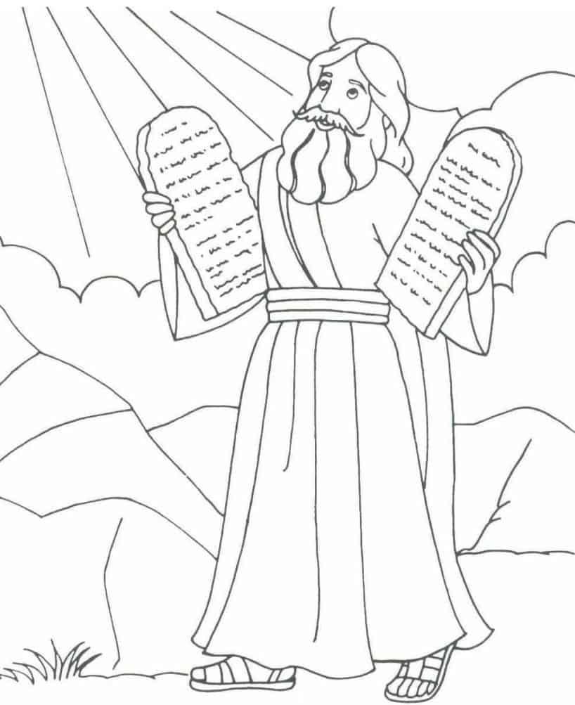 Moisés com as tábuas do mandamento