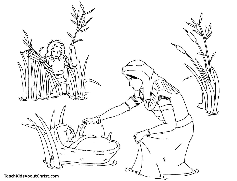 desenho Moisés
