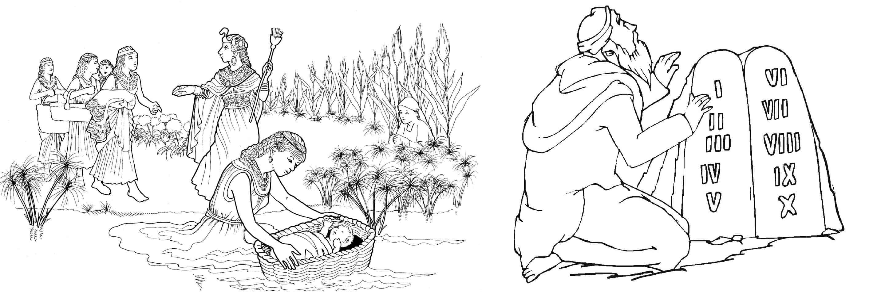 desenhos para pintar Moisés