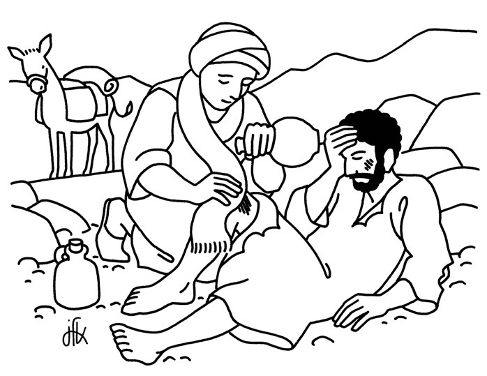 desenho boa samaritana