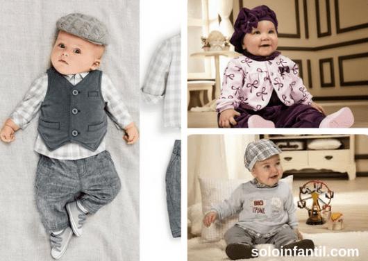 bebês com conjuntos de roupas de frio