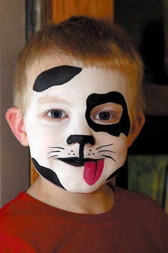maquiagem para crianças no Halloween