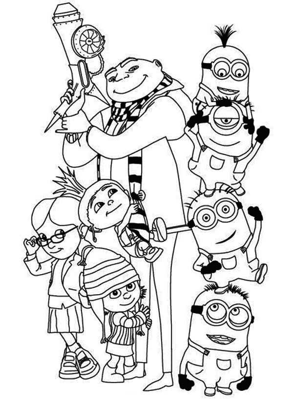 minions family coloring pages - photo#7