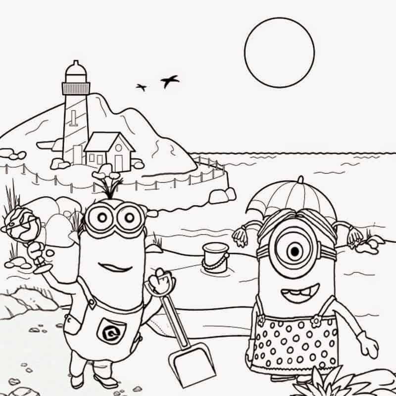 Minions praia