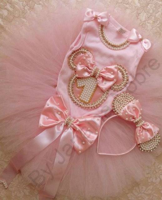 Roupa de bailarina para bebê rosa.