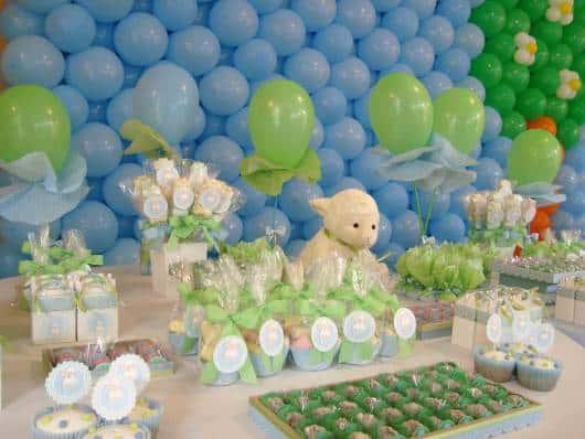 Decoração festa infantil de menino tema ovelhinha