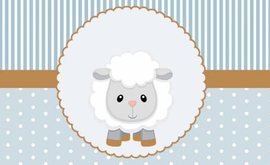 Convite ovelhinha chá de menino