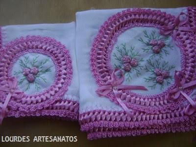 toalha decorada fita
