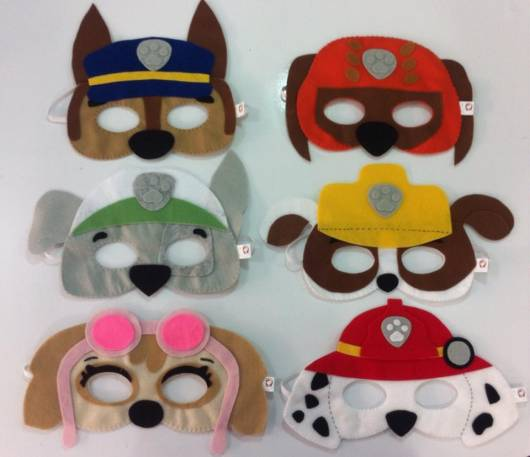 modelos de máscaras Patrulha Canina