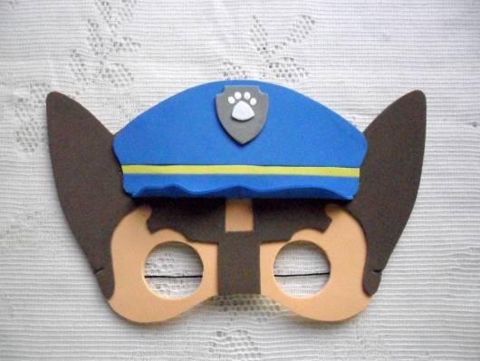máscaras Patrulha Canina feita de emborrachado