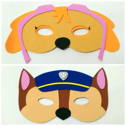máscaras Patrulha Canina de eva