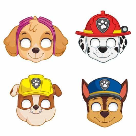 3 Mascaras Patrulha Canina Adoraveis Ideias Dicas Como Fazer