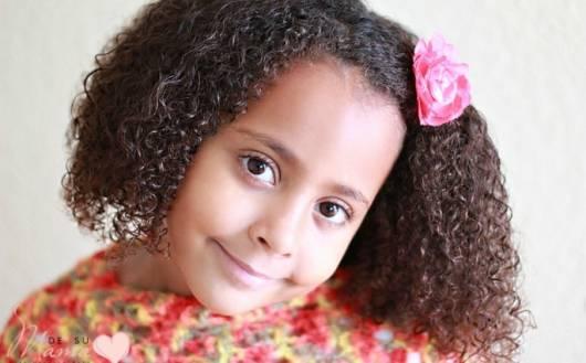 cabelo afro com penteados para cabelo cacheado infantil