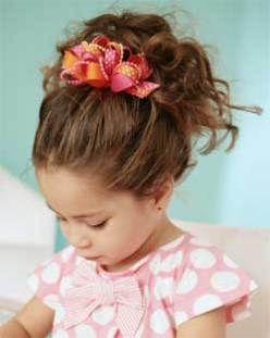penteado infantil com lacinho