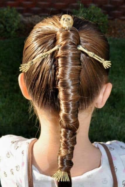 penteado rabo de cavalo para crianças
