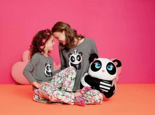 Pijama mãe e filha panda